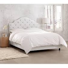 white velvet bed. Fine Velvet Velvet White Twin Tufted Notched Bed Inside L