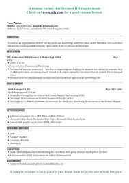 Perfect Resume Format For Freshers Mba Resume Sample Airexpresscarrier Com