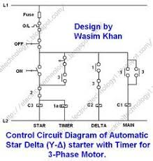 rev for three phase motor connection control diagram 3 Phase Motor Control Panel Wiring Diagram 3 phase motor starting method by automatic star delta starter operation and working principle three phase motor power & control wiring diagrams