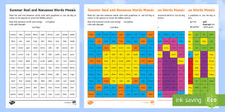 Free interactive exercises to practice online or download as pdf to print. Summer Phase 5 Phonics Mosaic Worksheet Activity Sheets