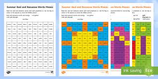 Printable phonics worksheets for kids. Summer Phase 5 Phonics Mosaic Worksheet Activity Sheets