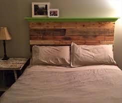 Lovely Headboard With Shelf Pallet Wall Headboard With Shelf Pallet  Furniture Diy