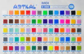 Bead Color Chart Perler 17000 Beads 22 000 Count Bead Jar Multimix Colors