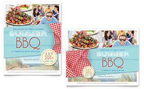 Bbq Poster Summer Bbq Poster Template Design