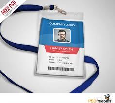 Id Cards Template Multipurpose Company Id Card Free Psd Template Uxfree Com