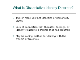 dissociative identity disorder mental health powerpoint presentation 6 what is dissociative identity disorder