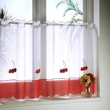 Red Curtains For Kitchen Blue Kitchen Curtains Of Beautify Your House With Kitchen Curtain