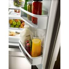 Kitchen Aid French Door Kitchenaid 36 In W 219 Cu Ft French Door Refrigerator In Black