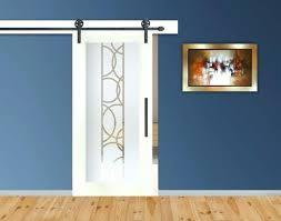 diy barn door with glass insert frosted sliding design positive left
