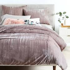 pink velvet duvet cover nz crinkle full queen dusty blush in