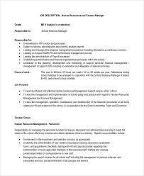 Personnel Management Job Description Financial Manager Job Description Major Magdalene Project Org