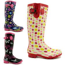 Patterned Rain Boots Awesome Decoration