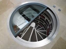 Wine Cellar In Kitchen Floor Interior Most Wanted Design Of Wine Cellar Spiral Staircase In