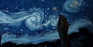 an artist paints van gogh s starry night in a bowl of water and it s mesmerizing architectural digest