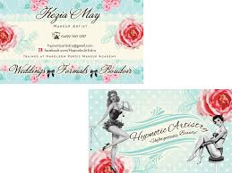shabby chic vine make up artist feminine boutique business card design
