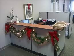 christmas decoration for office. String Of Lights With Garlands For Office Reception Decoration Christmas N