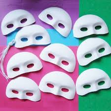 Plastic Masks To Decorate Half Face Masquerade Masks to Decorate Model Making 9