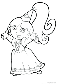 Coloring Pages Dora The Explorer Coloring Pages To Print The
