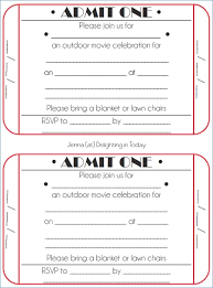 Free Printable Movie Tickets Template Download Them Or Print
