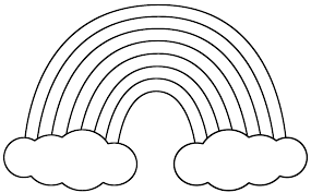 Small Picture Rainbow with Clouds Coloring Page St Patricks Day