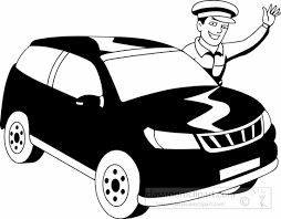 car driving clipart black and white. Contemporary Driving Drive Clipart Black Occupations White Driver  Blackwhitedriverblackwhiteclipartjpg Svg Download Intended Car Driving Clipart Black And White