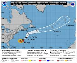 Bermuda Major Hurricane Humberto Cat3 18 1500z Near 32 2n