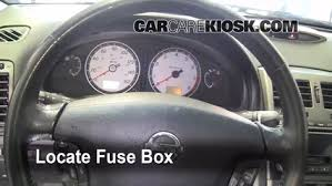 interior fuse box location 2000 2003 nissan maxima 2002 nissan locate interior fuse box and remove cover