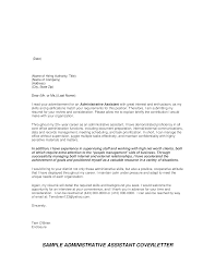 Administrative Cover Letter Example Administrative Assistant Cover Letter Sample Templates At