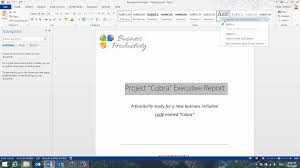 How To Create A Professional Report In Word 2013 How To Word