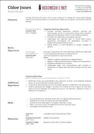 Social Work Resume Sample Magnificent Work Resume Format Mkma
