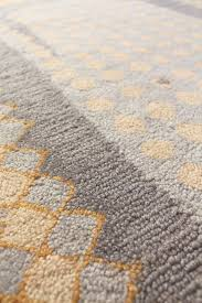 o whale gray wool hooked rug
