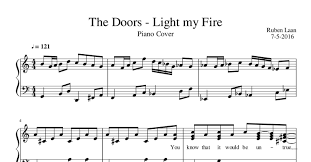 Light My Fire Piano Cover The Doors Light My Fire Pdf Docdroid