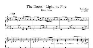 Light My Fire Sheet Music The Doors Light My Fire Pdf Docdroid