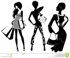 Stock Image Silhouette Fashion Girl Bags Vector Illustration Image