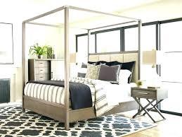 King Size Wood Canopy Bed Furniture Beds Frames Light Dark – appbookbook