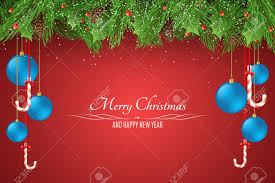 Christmas Background Template For Your Project Blue Balls