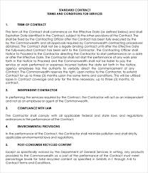 Service Contract Template Free Contract Template Agreement For Provision Of Services Template 7 Service Agreement