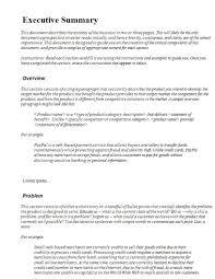 Executive Summary 22 Executive Summary Samples Pdf Doc Examples