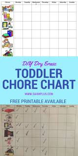 Toddler Chore Chart How To Make A Dry Erase Chore Chart