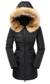 valuker women s down coat with fur hood with 90 down parka puffer jacket