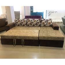 suede l shape sofa bed wih storage