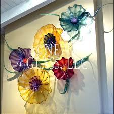 botanical blown art glass wall flowers