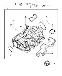 Dodge challenger drawing intake manifold for 2010 dodge challenger mopar parts giant