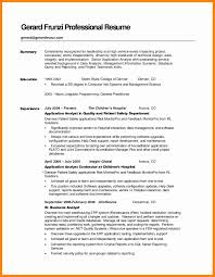Resume Summary Examples For Students Sample Resume Summary Statement Unique How to Write A Resume 42