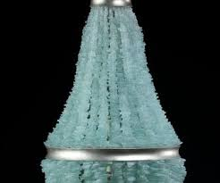 sea glass chandelier. Sea Glass Chandelier Chandeliers Design Fnl Seaglass With Silver Leaf Accents Mecox Gardens O