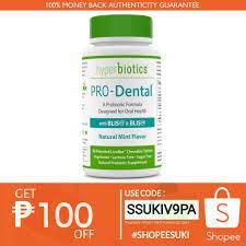 Hyperbiotics, <b>PRO</b>-<b>Dental</b>,<b>Natural Mint Flavor</b> 45-90 C | Shopee ...