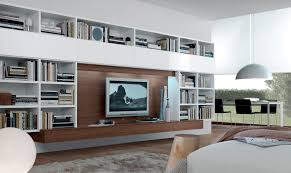 contemporary tv wall unit  open system  jesse