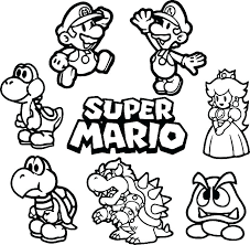 Super Bros Coloring Pages Online New Books Mario Odyssey Bowser