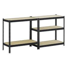 black powder coat edsal garage shelving units ur1848p