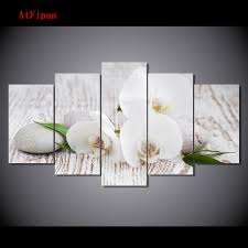 white orchid wall art